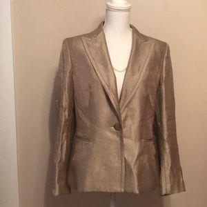 Kasper gold metallic blazer